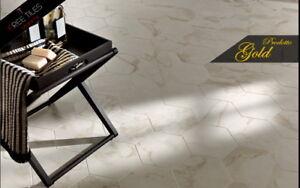 Piastrelle pavimento gres porcellanato esagonale calacatta