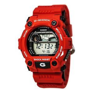 Casio Men's Watch G-Shock World Timer Digital Dial Red Resin Strap G7900A-4