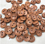 10 15mm Wooden Stitch Edge Buttons 2 Hole Sewing Craft UK SELLER Crochet Brown