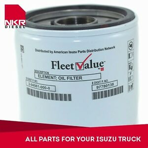 Oil Filter For Isuzu Npr Npr Hd Nqr Nrr 5 2l 4hk1 4 8l 4he1 98 15 Ebay