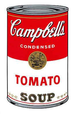 Campbells Tomato by Andy Warhol A1 Canvas Print