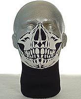 Bandero Motorcycle Face Mask - Long Neck - Skull Design