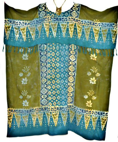 Neu RIMBA Toll Batikdruck Blumenmuster Kaftan Damen Top Maxi Lange Tunika
