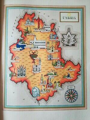 Cartina Geografica Spoleto.50 Vecchia Cartina Umbria Todi Orvieto Spoleto Norcia Narni Terni Assisi Cascia Ebay