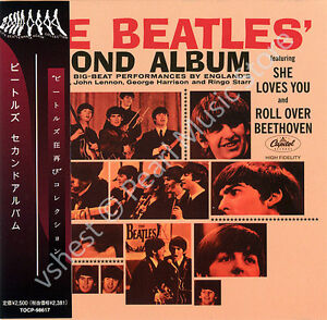 BEATLES-THE-BEATLES-039-SECOND-ALBUM-CD-MINI-LP-OBI-Harrison-Lennon-McCartney-Starr