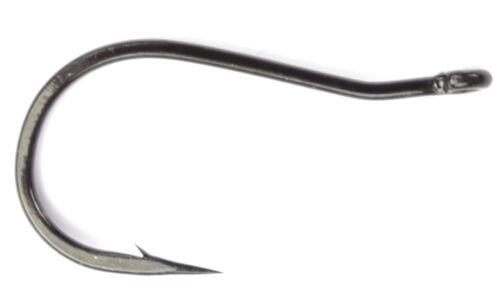 Bent Shank Multi-Use Wet Fly Hook Black Qty 25 Daiichi 2171 #02