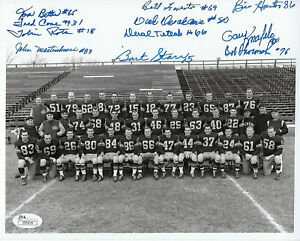 1956-PACKERS-Bart-Starr-ROOKIE-YEAR-team-signed-8x10-photo-JSA-COA-AUTO