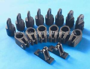 Substantial Plastic 3 Bow Bimini Top Fittings Fit 7//8/'/' Black Boat Parts Useful