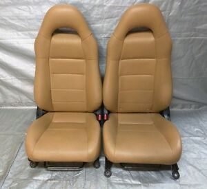 2003 2005 Toyota Mr2 Spyder Seats Tan Leather Ebay
