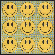 SMILEY BLUE 9 PANEL  QUALITY BLOTTER ART FULL SIZE SHEET ACID  HOUSE RAVE