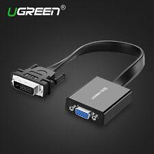 UGREEN 1080P DVI-D 24+1 to VGA Adapter Converter For HDTV PC DVD Monitor 3D New