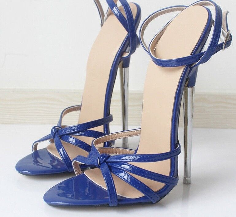 Sexy extreme killer 18cm strappy high heel stiletto Sandales fetish made - hand made fetish b08a60
