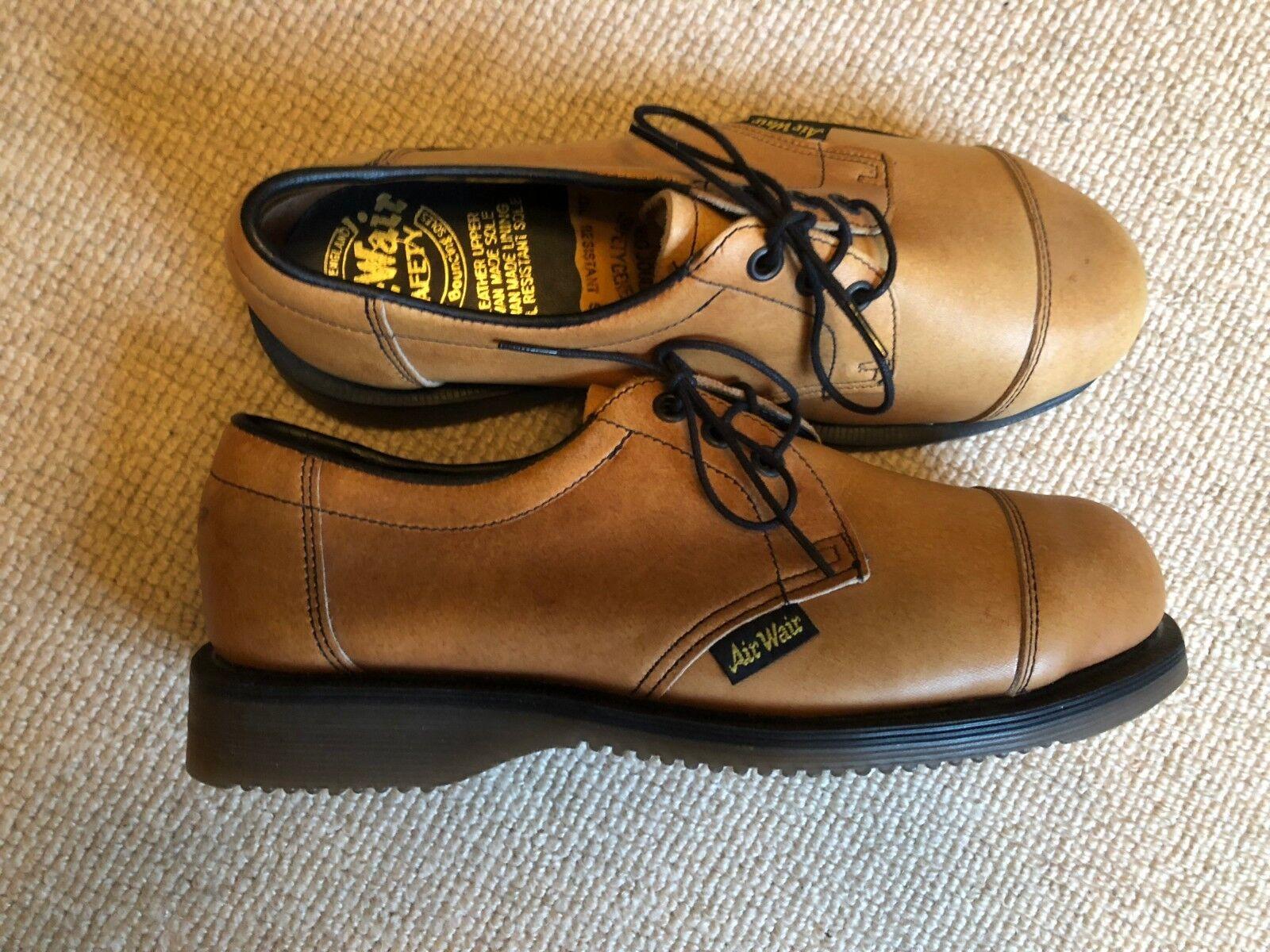 RARE Vintage Dr Martens SABBIA Oxford Acciaio Puntale Stivali Scarpe Non 6 39