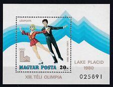 Ungarn 1980 postfrisch MiNr. Block 140A  Olymische Spiele Lake Placid   Eistanz
