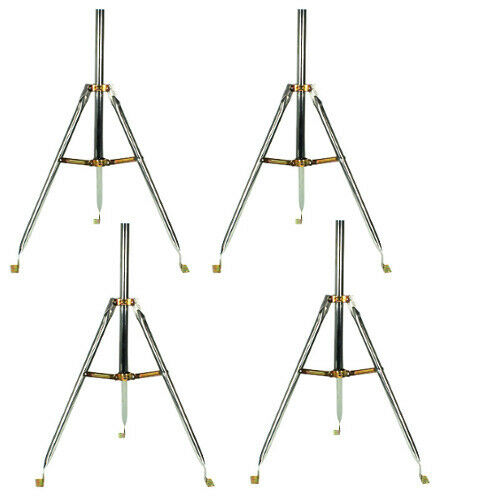 "4 Pack 3ft Heavy Duty Tripod Base 28"" Mast Antenna Satellite Dish Mount Sky6031 Punctual Timing"