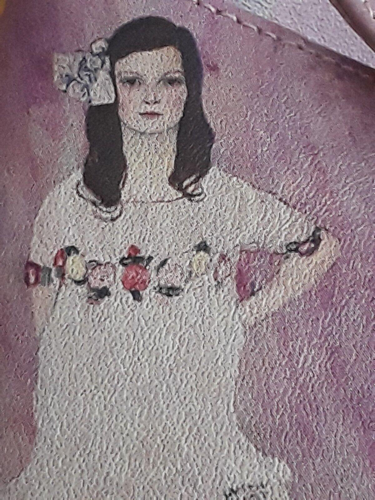 di moda NEW ICON GUSTAV KLIMT rosa LEATHER BOWS PLATFORM SLIP ON ON ON MULES SANDALS 11 scarpe  prezzi equi