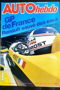AUTO-HEBDO-274-du-9-07-1981-Gp-de-France-Prost-Interview-James-Hunt-Gr-5