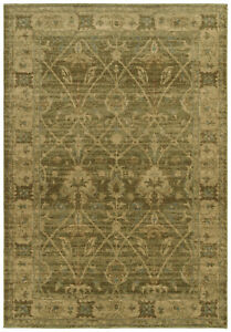 Style Arts Crafts Green Area Rug
