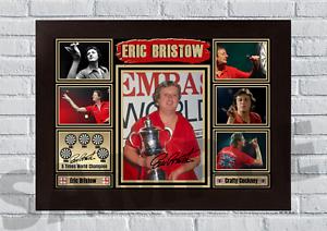 Eric Bristow Crafty Cockney PDC Darts A4/A3 Signed Print Unframed/Framed (#3)