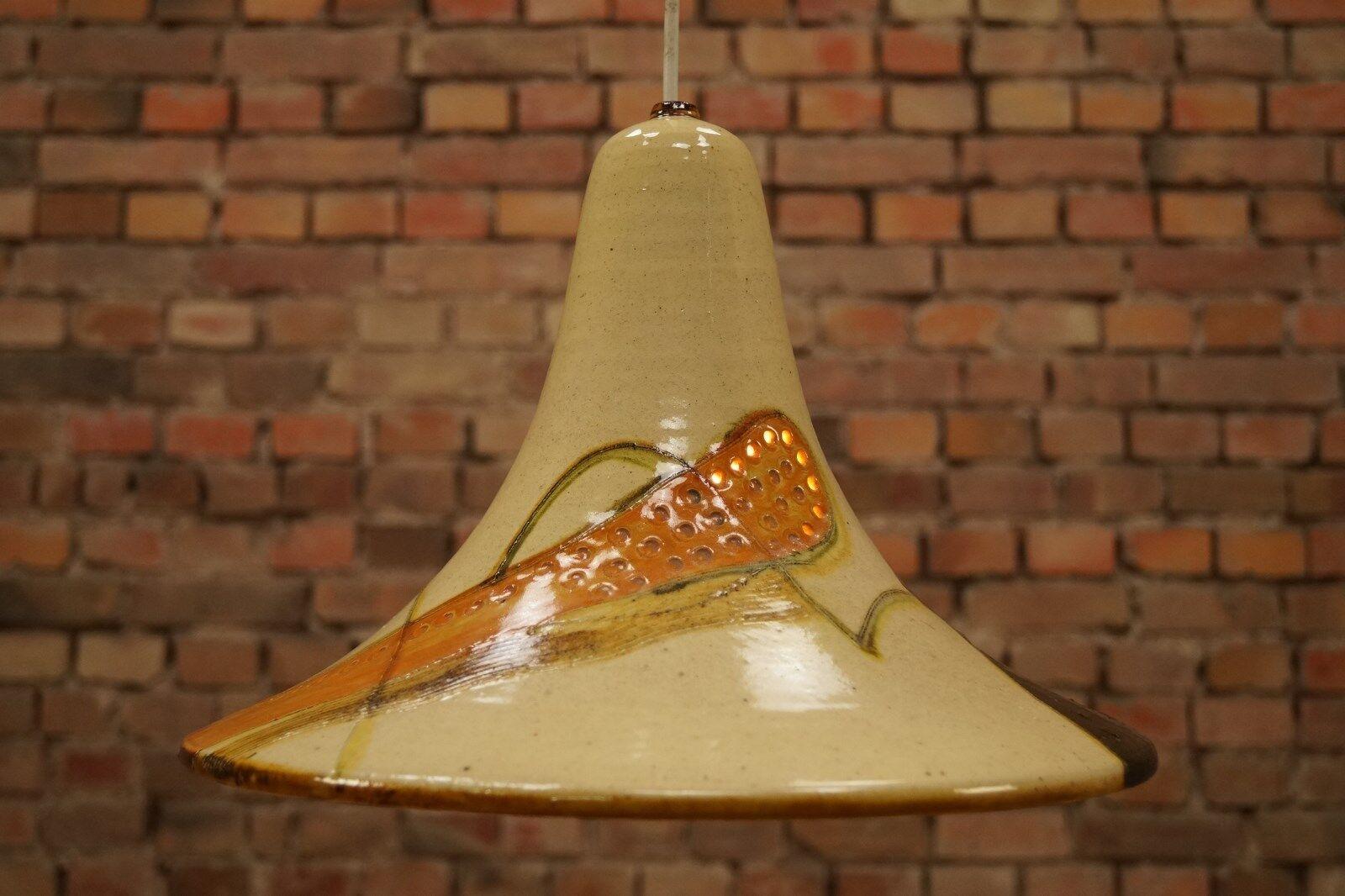 60er Céramique Plafonnier Lampe Danish Moderne Vintage à Suspension       Exceptionnelle  2a8588