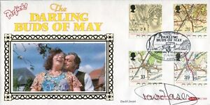 Actor-David-Jason-signed-TV-series-Darling-Buds-of-May-Benham-FDC