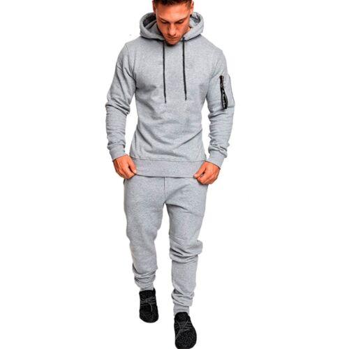 2Pcs Men/'s Tracksuit Hoodies Sweatshirt Pants Sets Sport Wear Casual Suit Hot