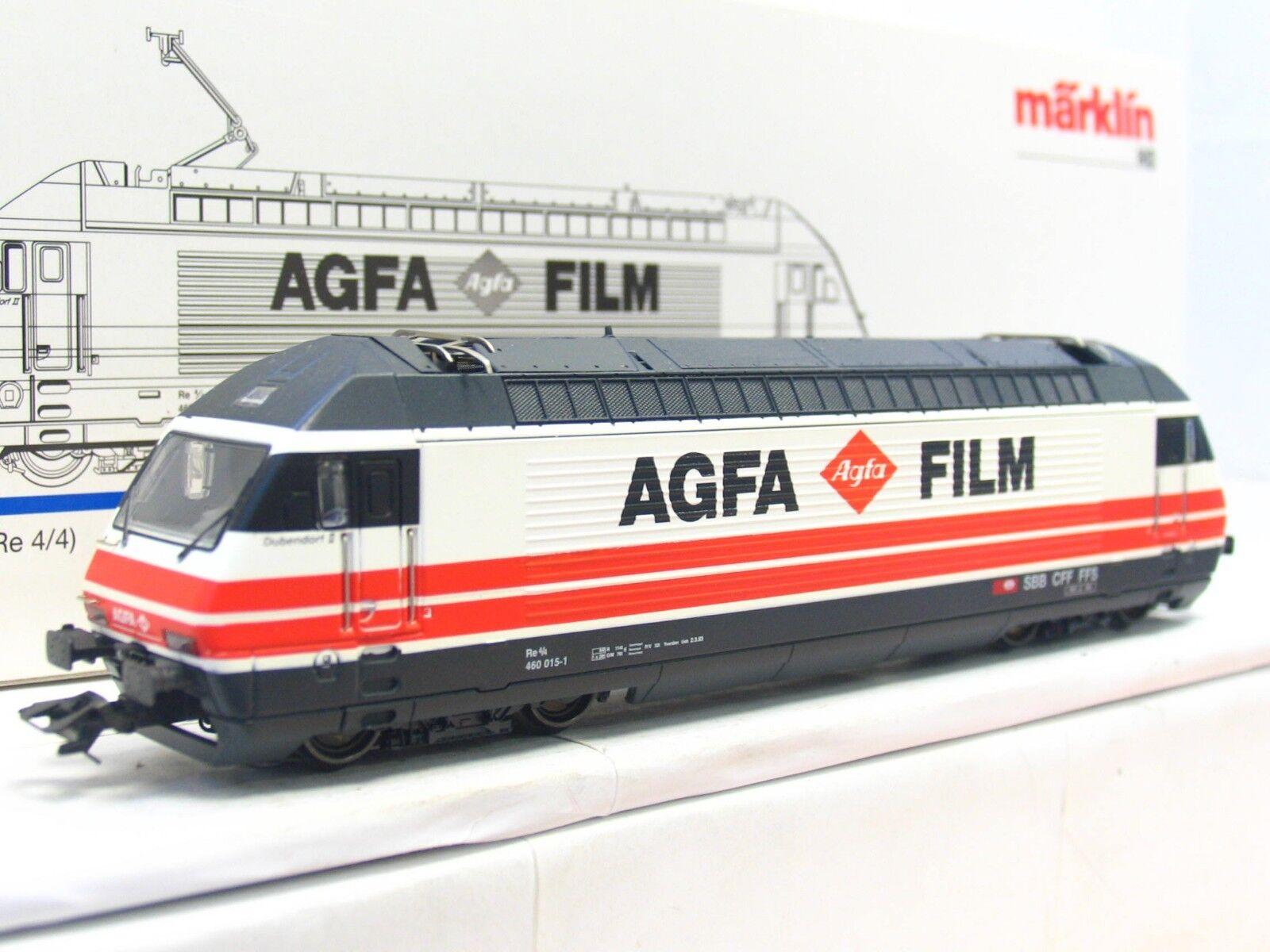 Märklin H0 83463 E-Lok Re 4 4 460 015-1 Agfa Film SBB CFF FFS Delta OVP (V3052)