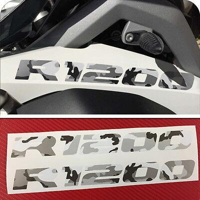 2 Adesivi Serbatoio Moto BMW R 1200 gs camouflage mimetica Vulcano