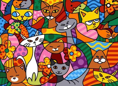 Seg De Paris tapestry//needlepoint Lona Color Gatos