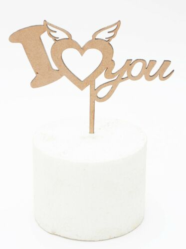 MDF rustic style I LOVE YOU, love, wedding, romance, valentines day cake topper
