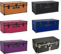 Storage Trunk Footlocker Travel Organizer Box Dorm Luggage Chest Assorted Colors