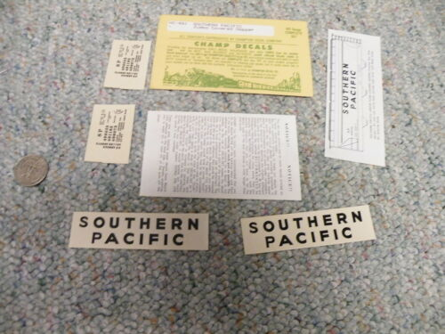 Champ decals HO HC-481 Southern Pacific jumbo covered hopper  K127
