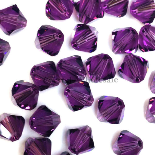 Genuine Swarovski crystal 5328 XILION Loose Bicone Beads 204 6mm Amethyst