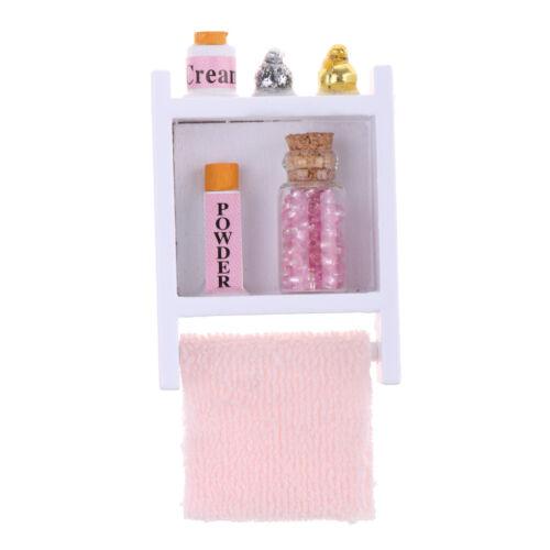 MagiDeal Dollhouse Miniature Bathroom Furniture Wall Shelf Model 1//12 Scale