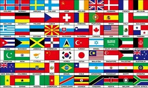 70 nations countries flag 5x3 feet africa europe america
