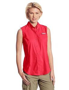 5e5a1a56b81e5d Image is loading NEW-Columbia-Women-039-s-Tamiami-Sleeveless-Shirt-