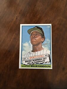 1976-Topps-Traded-Willie-Randolph-592T-Rookie