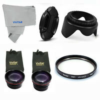 Wide Angle+telephoto+macro +uv Filter +lens Hood+lens Cap+for Sony A600 Nex3 Nx5