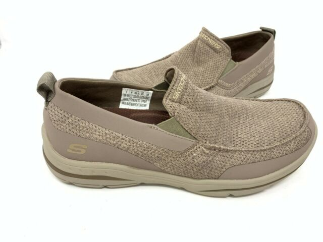 NEW! Skechers Men's HARPER MOVEN Slip On Loafer Lite Brown #65032 152A tz