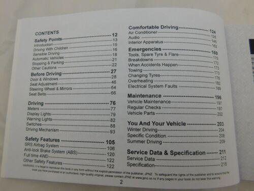 HANDBOOK /& FREE SERVICE BOOKLET HONDA STEPWAGON 2001-2005 OWNERS MANUAL