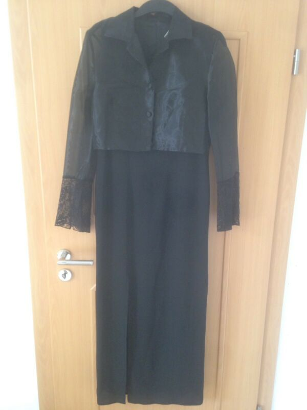 Abendkleid Mit Blazer Aus Hermann Lange Collection ,gr. 38,schwarz, Top