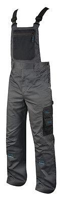 Latzhose 4TECH  Arbeitshose Arbeitskleidung grau-schwarz  TOP Gr 46-64 NEU