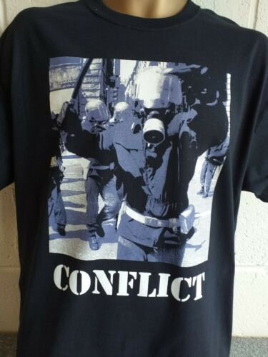 Conflict Angry Cop Official Tshirt 3XL Sub Humans, Crass, Exploited, Discharge