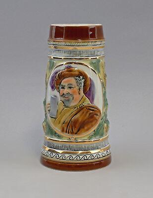 9997982 Porzellan Ernst Bohne Bierkrug Totenkopf 0,5L 15x15cm