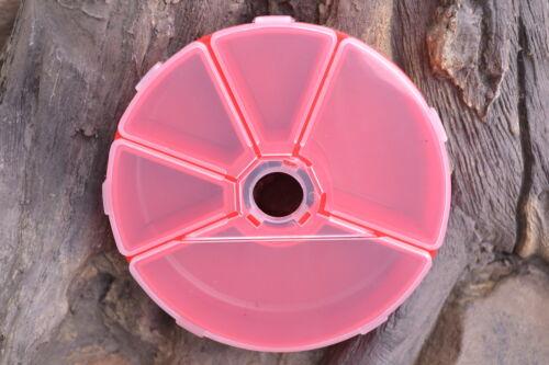 Tackle Angel Rund Box Dose Hakenbox Zubehörbox Kleinteilebox Fliegenbox Angelbox
