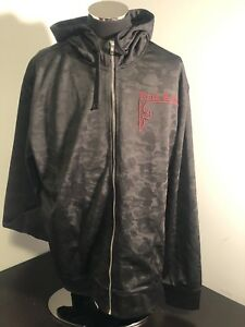Rock Revival Thick Stitched Full Zip Hoodie Jacket Mens XL NWT Black
