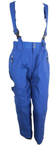 Cross-Womens-Ski-Skiing-Snowboarding-Salopettes-Trousers-Navy-UK-16