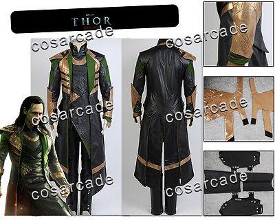 Thor 2:Dark World Avengers Loki Laufeyson/Odinson Outfit Cosplay Costume Coat