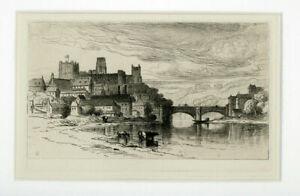 Samuel Colman Durham England Etching Slade Collection Stamp