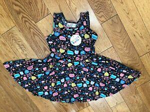 NEW Dot Dot Smile TANK Twirly Dress Floral Printed Sleeveless Purple